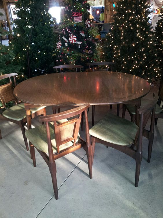 Rare walter of wabash table and 6 chairs 370 00 via etsy