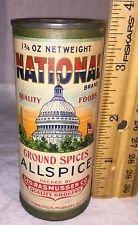 ANTIQUE NATIONAL SPICE TIN ALLSPICE CAN PATRIOTIC COUNTRY STORE US CAPITOL FLAG