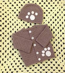 Craft Passions: Paw Print Cardigan# free # crochet pattern link he...