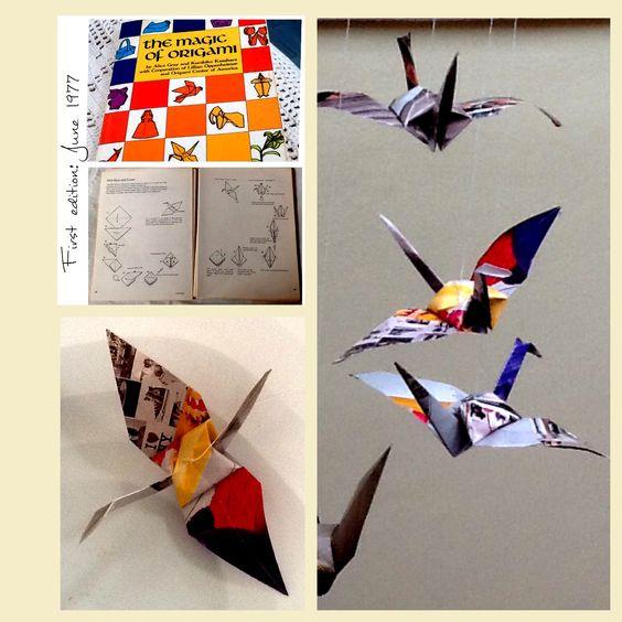 Origami, dobradura. Tsuru, Crane, Grou, Garça, Cegonha. Ave símbolo de saúde, paz, boa sorte e felicidade