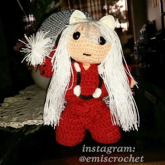 Inuyasha tejido #crochet #amigurumi #inuyasha by emiscrochet