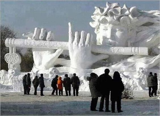 Snow art, China