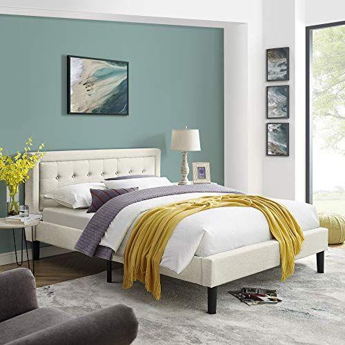 Mornington Upholstered Platform Bed Headboard And Metal Frame