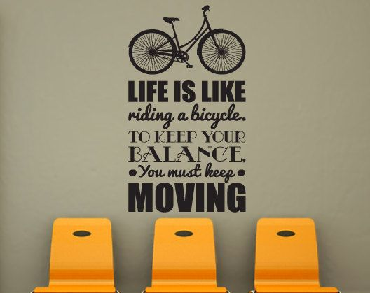 bike wall decal home decor office decor quote decal about the product each decal is