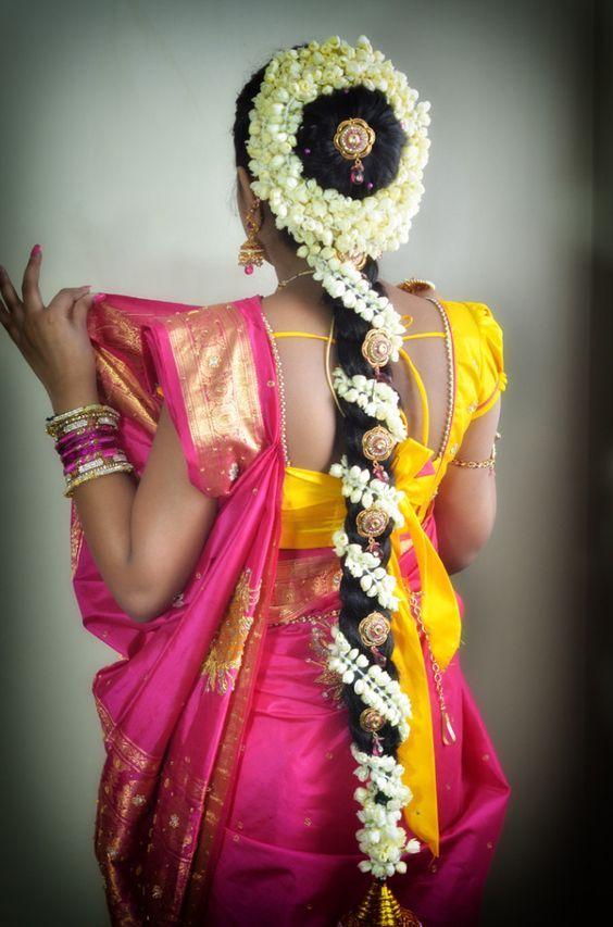 Traditional Jasmine Poo Jadai Hair Accessories Braids Indian Long Hair Braid Hair Styles