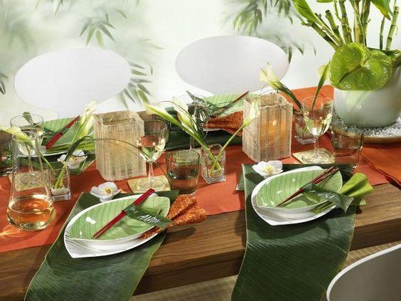 Oriental table setting