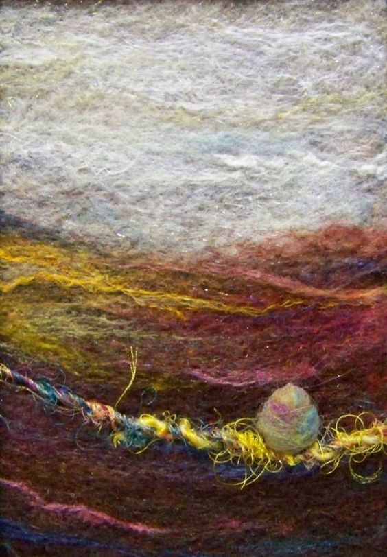 No521 Balance Too Needlefelt Art Small by Deebs on Etsy, $38.00
