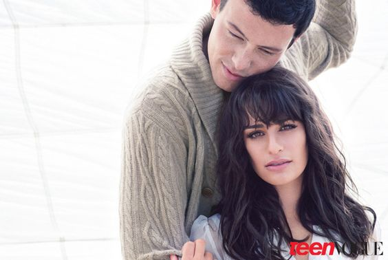 Cory Monteith and Lea Michelle in Teen Vogue