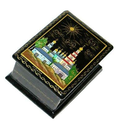Monastery Miniature Palekh Lacquer Box: