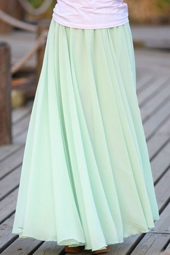 beautiful maxi skirts and mint skirt on