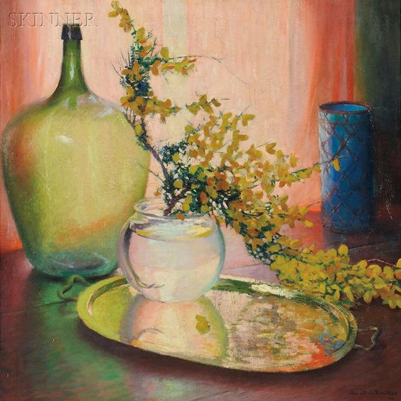 Gerrit Albertus Beneker (American, 1882-1934) Still Life - Scotch Broom. | Auction 2896B | Lot 334 | Estimate $3,000 - $5,000