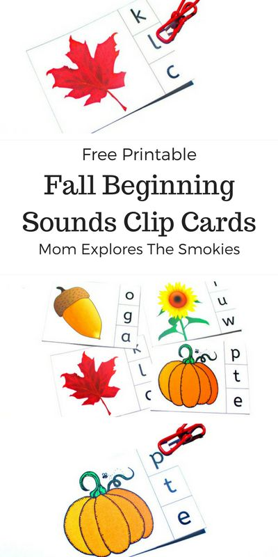 Sound clips fall themes and free printable on pinterest