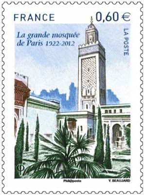Islam in Europe: France: Stamp to mark 90th anniversary of Paris Grand Mosque