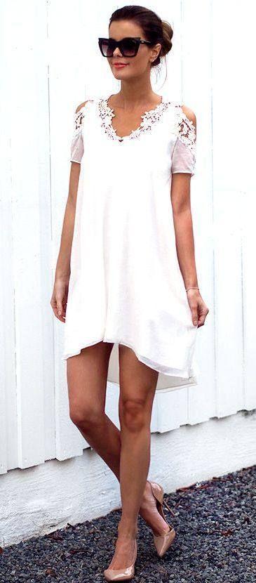 Lace Detail Mini Dress