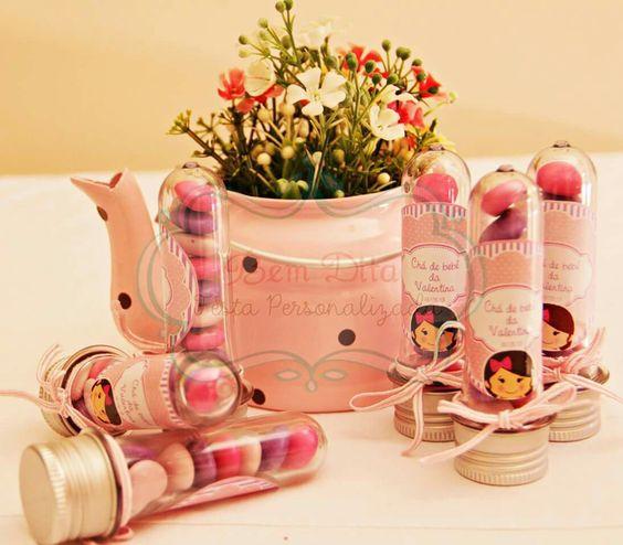Tubetes para chá de bebê  By #bemditafestapersonalizada