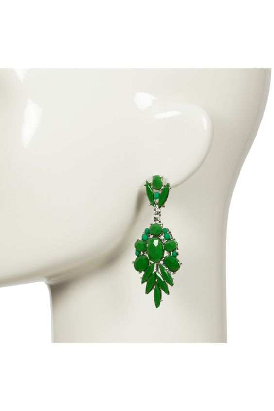 Earrings - Resin Pointed Palm Drop Earring - Adorne - $15.00
