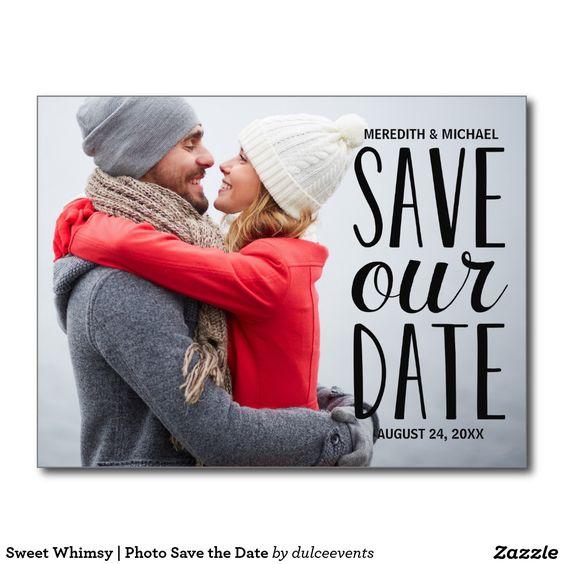Süßes Whimsy   Foto Save the Date Postkarten