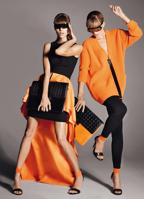 """Maryna Linchuk & Cato van Ee in """"Bandes à Part"""" by Cuneyt Akeroglu for Vogue Paris November 2013"""