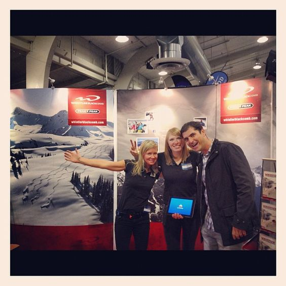 Met the awesome marketing team of #whistlerblackcomb, your booth was amazing! #arctivity