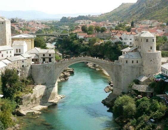 Le pont de Mostar, Bosnie