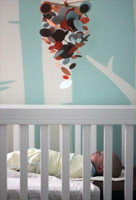 quarto infantil azul turquesa