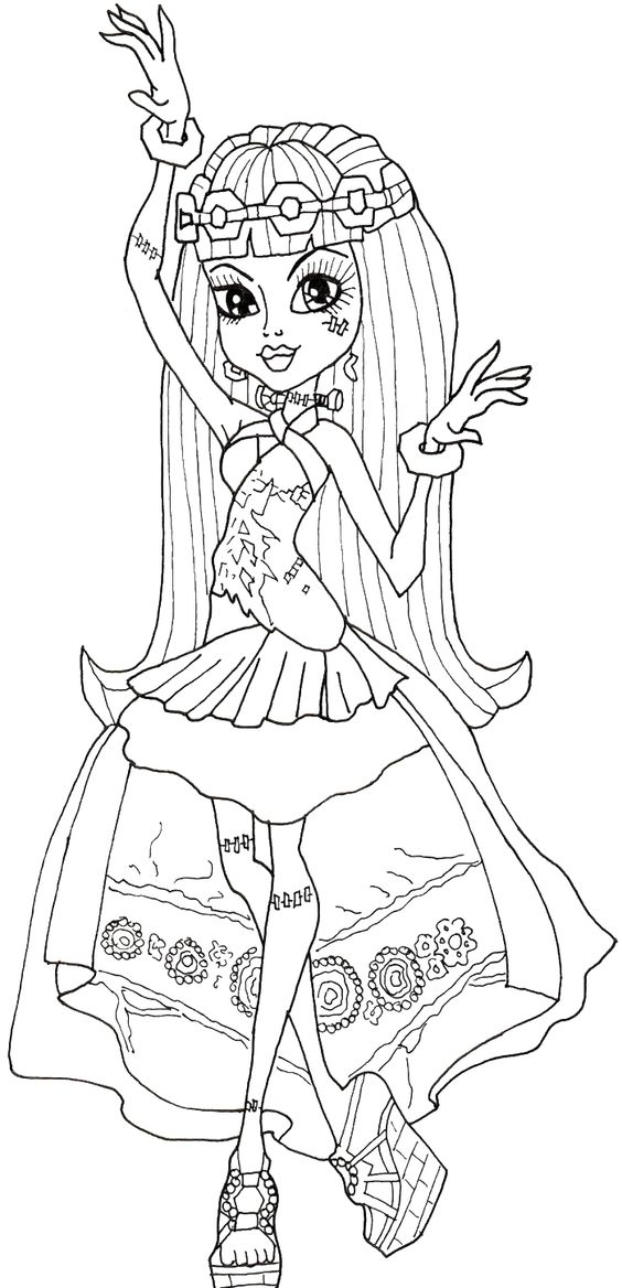 Monster High Frankie Stein Dancing Coloring Pages Monster High Coloring Pages Kidsdrawing Free Coloring Coloring Pages Cool Coloring Pages Coloring Books