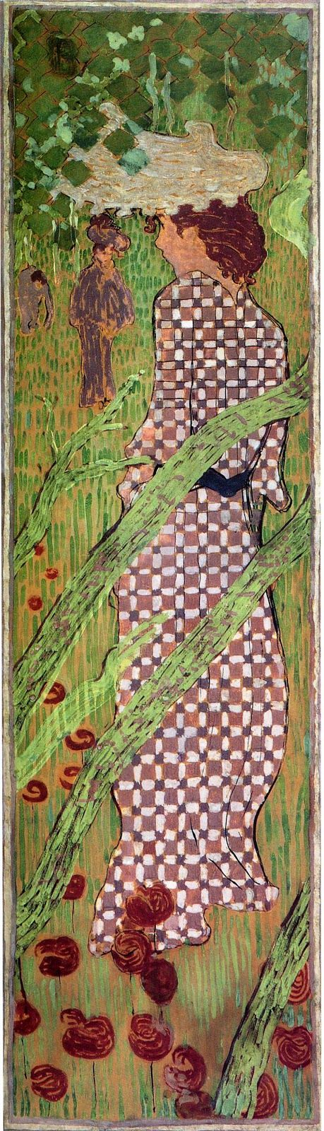 Pierre Bonnard  (1867-1947) - Woman in a checked dress, 1891, Musee d'Orsay, Paros.