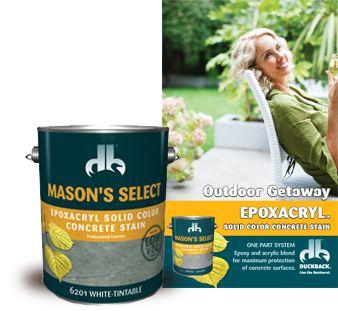 Epoxacryl Solid Color Concrete Stain 6200 Mason S