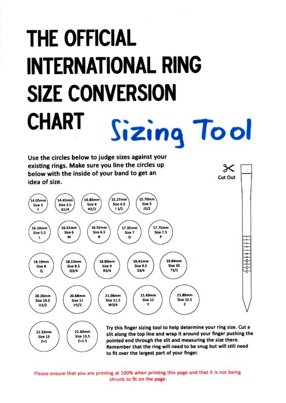 Printable Size Chart To Scale Be Inspired 2cre8 Size Guide