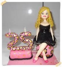 Topo de bolo personalizado 25 anos oncinha rosa