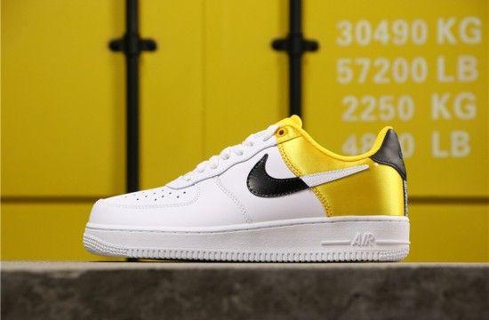 Nike Air Force 1 Low Nba Amarillo Golden Yellow Satin Bq4420 700 Nike Air Force Nike Air Air Force