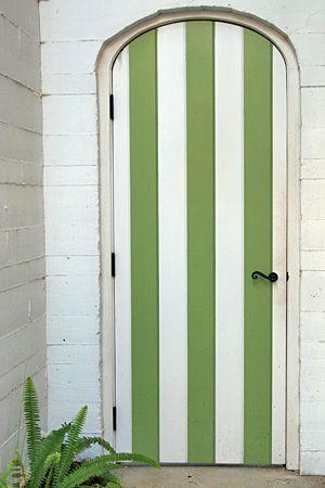 Green striped door & Green striped door | Doors | Pinterest | Stripes White doors and ... pezcame.com