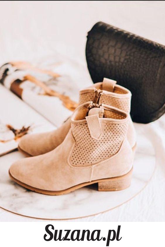 Bezowe Botki Damskie Na Wiosne Suzana Pl Ankle Boot Shoes Boots