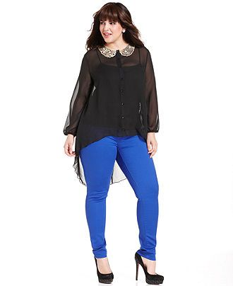 Celebrity Pink Jeans Plus Size Jeans Colored Skinny - Plus Size