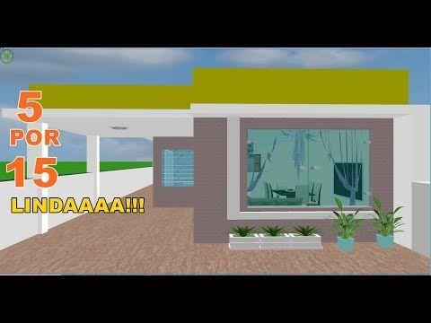 Plano De Casa Fofinha 5x15 Youtube Com Imagens Plano De Casa