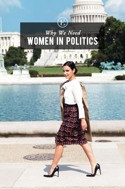 """There is a reason old white men have held office for so long – there are not that many people rising through the ranks to challenge them."" - Lindsey Saletta, Why We Need Women in Politics #theeverygirl"