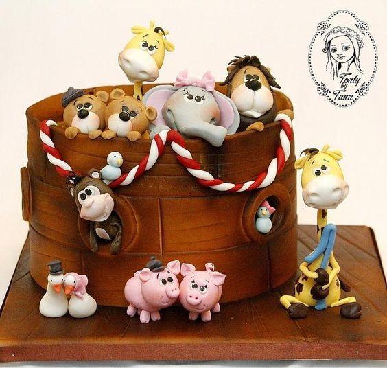 Noah's Ark - Cake by grasie: