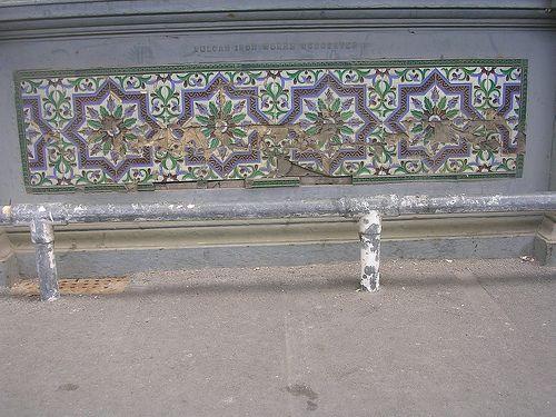 Tile panel Ladies Waiting Room on Platform 2b at Worcester Shrub Hill Station