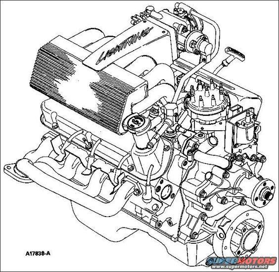 1st Gen Ford Lightning Engine Drawing