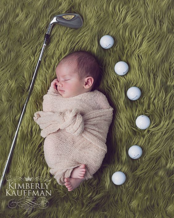 Philadelphia golf baby photographer