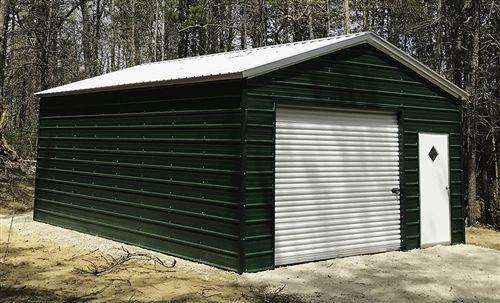 18x26 Boxed Eave Metal Garage Alan S Factory Outlet Garage Door Styles Garage Door Design Metal Garages