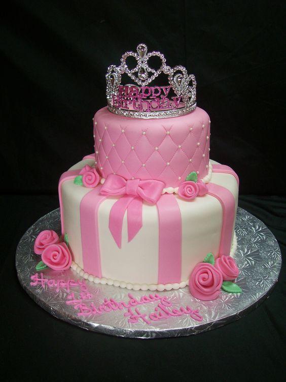 Princess Cake Designs Little Girl : Pink Princess Themed Birthday Cake Ideas for little girl ...