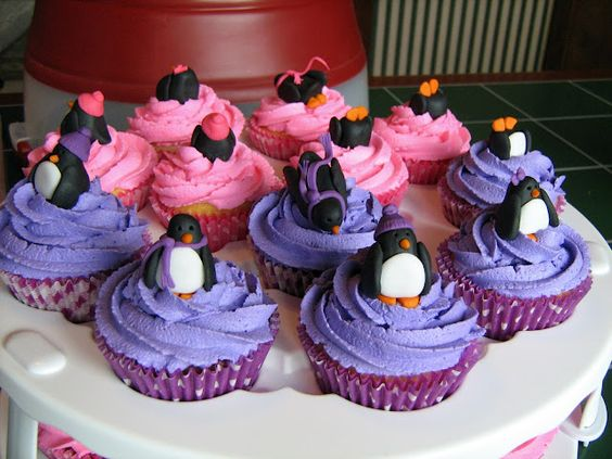 Pink & purple and Penguins!