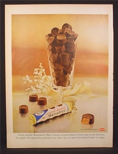 Vintage chocolates ad (1950s)