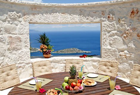 Architectural Detail from Greece. I do love windows that frame the view.