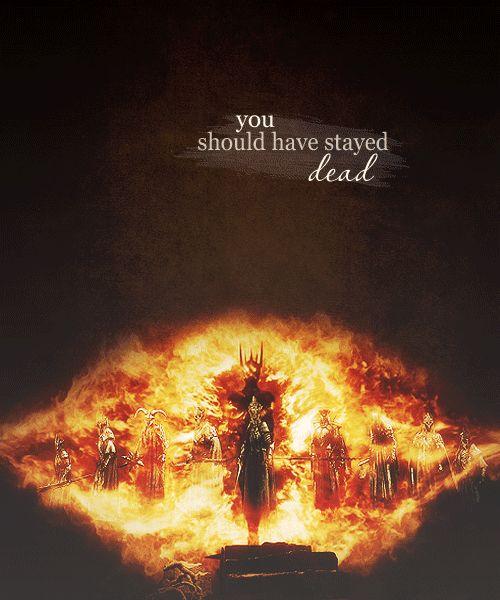 Awesome gif of the Necromancer (Sauron) and the nine