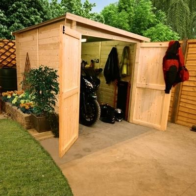 Motorbike shed - we're not the only ones!