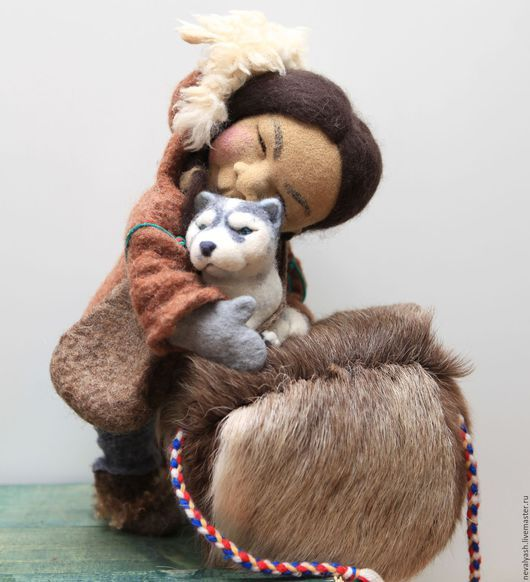 Collectible dolls handmade.  Power of love.  Tumbler.  Online Store Fair Masters.  Doll made of wool, dry felting