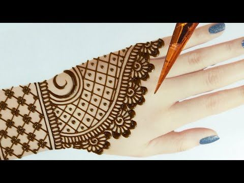mehandi design simple back