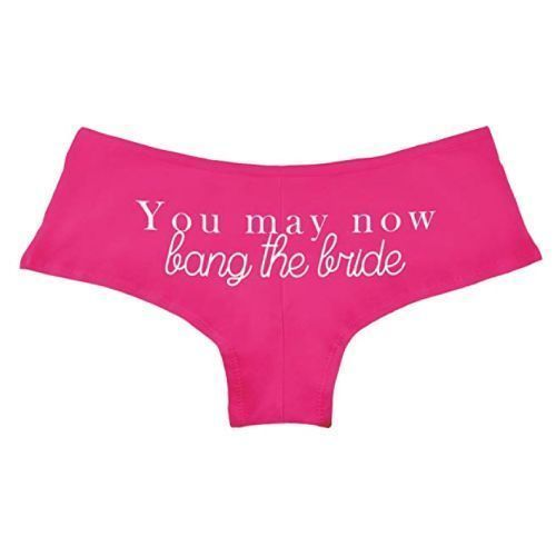 Bride Lingerie Bachelorette Gift Panties Funny Lingerie Bachelorette Party Gift Just Married Panties Bachelorette Party Favor